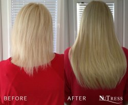 Hair extensions for short, thick hair.