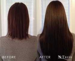 Hair extensions for short hair.