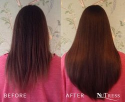 Micro bond hair extensions for length and fullness.