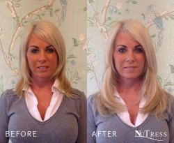 Micro bond hair extensions to add length and fullness.