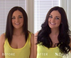 Hair extensions to add length and thickness.