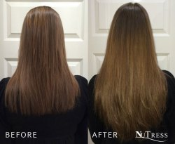 Hair extensions for thickness and length.