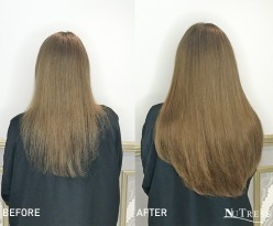 Micro bond hair extensions for length and thickness.