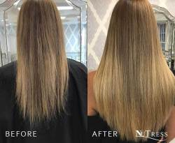 125 Tailor-made micro bond hair extensions.
