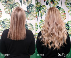 Tailor-made, tiny-tip micro rings hair extensions.