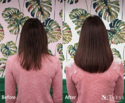 Tailor made natural micro bond hair extensions in Manchester salon