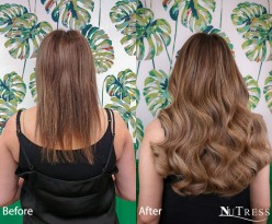 Micro ring hair extensions refit in Manchester salon